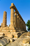 Temple of Hera, Juno, Lacinia at Agrigento Valley of the Temple, Sicily Royalty Free Stock Images