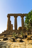 Temple of Hera, Juno, Lacinia at Agrigento Valley of the Temple, Sicily Stock Images