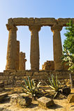 Temple of Hera, Juno, Lacinia at Agrigento Valley of the Temple, Sicily Royalty Free Stock Image