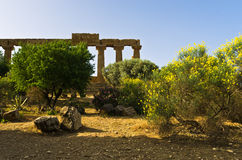 Temple of Hera, Juno, Lacinia at Agrigento Valley of the Temple, Sicily Stock Photos