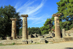 Temple of Hera. In Olympia, Greece Royalty Free Stock Image
