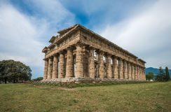 Temple of Hera at Paestum archaeological site, Italy Stock Photography