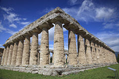 Temple of Hera in Paestum, Italy Stock Image