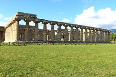 The temple of hera - paestum. The temple of hera it is the oldest of the three buildings Stock Photo