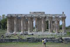 The temple of Hera, ruins of Paestum Stock Photography