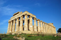 The Temple of Hera, at Selinunte. Selinunte (Latin: Selinus) is an ancient Greek archaeological site on the south coast of Sicily, southern Italy, between the royalty free stock photo