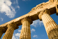 Temple of Hera, Selinunte, Sicily. The Hellenic temple of Hera, also known as Temple E, at Selinunte in Sicily in Southern Italy Stock Photo