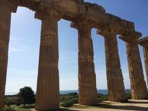 Selinunte temple of Hera Stock Photos