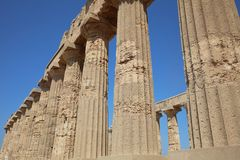The Temple of Hera at Selinunte. Sicily. The Temple of Hera - Temple E - at Selinunte. Sicily. Italy Stock Photo