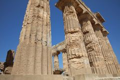 The Temple of Hera at Selinunte. Sicily. The Temple of Hera - Temple E - at Selinunte. Sicily. Italy Stock Image