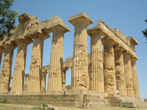 Temple of Hera in Selinunte Stock Images