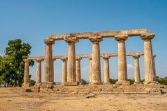 The Temple of Hera at Tavole Palatine. Metapontum Royalty Free Stock Image