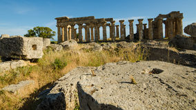 The Temple of Hera (Temple E) at Selinunte, Sicily Royalty Free Stock Images