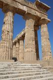 The Temple of Hera Temple E at Selinunte. Sicily Royalty Free Stock Photo