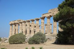 The Temple of Hera Temple E at Selinunte. Sicily Stock Photography