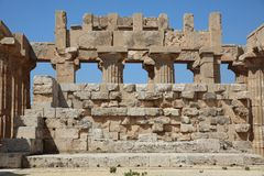 The Temple of Hera Temple E at Selinunte. Sicily. Italy Stock Images
