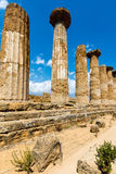 Temple of Heracles in Agrigento, Sicily Royalty Free Stock Images