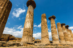 Temple of Heracles in Agrigento, Sicily Stock Photos