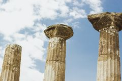Temple of Heracles, Agrigento, Sicily royalty free stock image