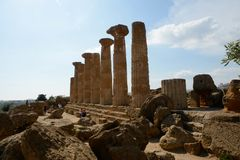 Temple of Heracles Sicily stock image