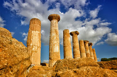 The temple of heracles in the Valley of the Temples, Agrigento, Sicily, Italy Royalty Free Stock Photography