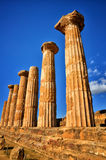 The temple of heracles in the Valley of the Temples, Agrigento, Sicily, Italy Royalty Free Stock Images