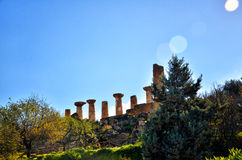 The temple of heracles in the Valley of the Temples, Agrigento, Sicily, Italy Stock Photography