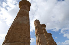 Temple of Hercules. In the Valley of the Temples in Agrigento Royalty Free Stock Image