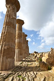 Temple of Hercules. In the Valley of the Temples in Agrigento royalty free stock photography