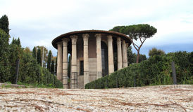 The temple of Hercules Stock Photography