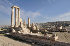 Temple of Hercules in Amman Stock Images