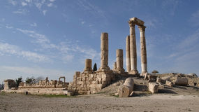 Temple of Hercules in Amman Stock Photography