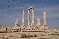 Temple of Hercules in Amman Royalty Free Stock Photos