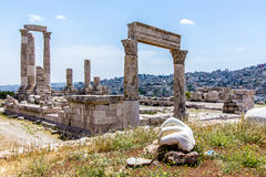 Temple of Hercules, at the Amman Citadel, Amman, Jordan Royalty Free Stock Images