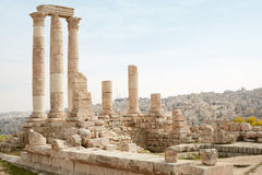 Temple of Hercules on the Amman citadel Royalty Free Stock Images