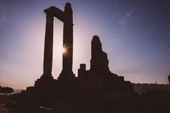 Temple of Hercules, Amman Citadel, Jordan Royalty Free Stock Photography