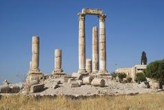 Temple of Hercules, Amman Citadel, Jordan Stock Photo