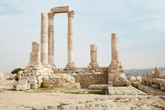 Temple of Hercules in Amman, Jordan Royalty Free Stock Image