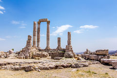 The Temple of Hercules in Amman, Jordan Stock Image
