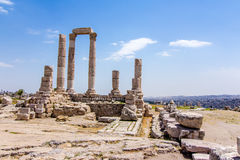 The Temple of Hercules in Amman, Jordan Stock Photos