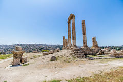 The Temple of Hercules in Amman, Jordan Royalty Free Stock Image
