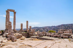 The Temple of Hercules in Amman, Jordan Royalty Free Stock Photos