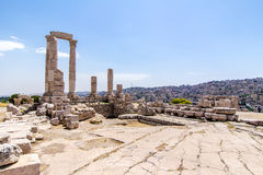 The Temple of Hercules in Amman, Jordan Stock Images