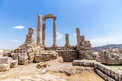 The Temple of Hercules in Amman, Jordan Royalty Free Stock Photo