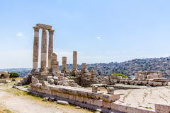 The Temple of Hercules in Amman, Jordan Royalty Free Stock Photography