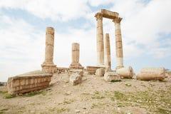 Temple of hercules in Amman, Jordan Stock Photo