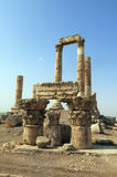Temple of Hercules on the Citadel hill in Amman Royalty Free Stock Image