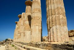 Temple of Hercules - Sicily Stock Image