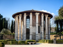 The Temple of Hercules Victor  in the area of the Forum Boarium, Royalty Free Stock Photos