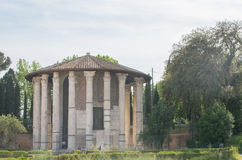 The Temple of Hercules Victor in the Piazza Bocca della Verita in Rome. Italy Royalty Free Stock Photography
